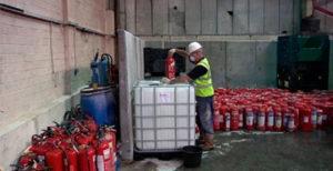 Утилизация огнетушителей и отходов огнетушащих веществ